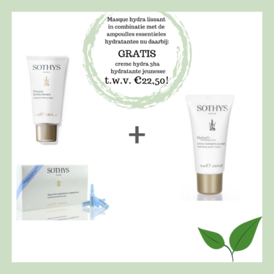 Skin @ home - masker - Sothys masque hydra + ampoules
